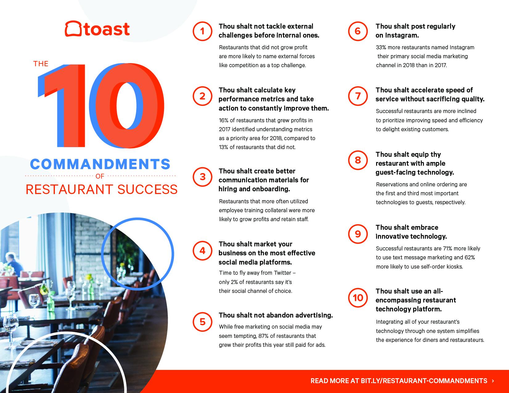 10 restaurant commandments