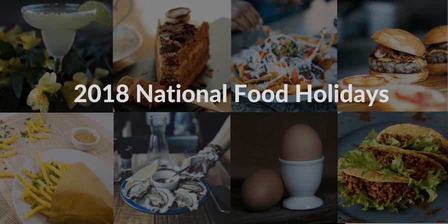 2018 food holidays