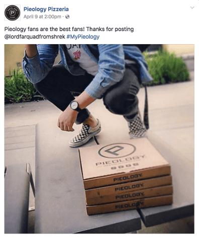 Pieology Pizzeria social media