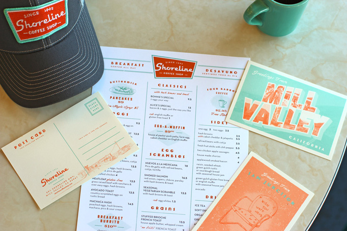 restaurant menu layout