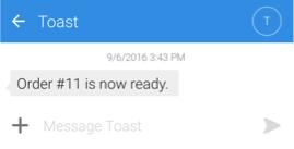 server text message
