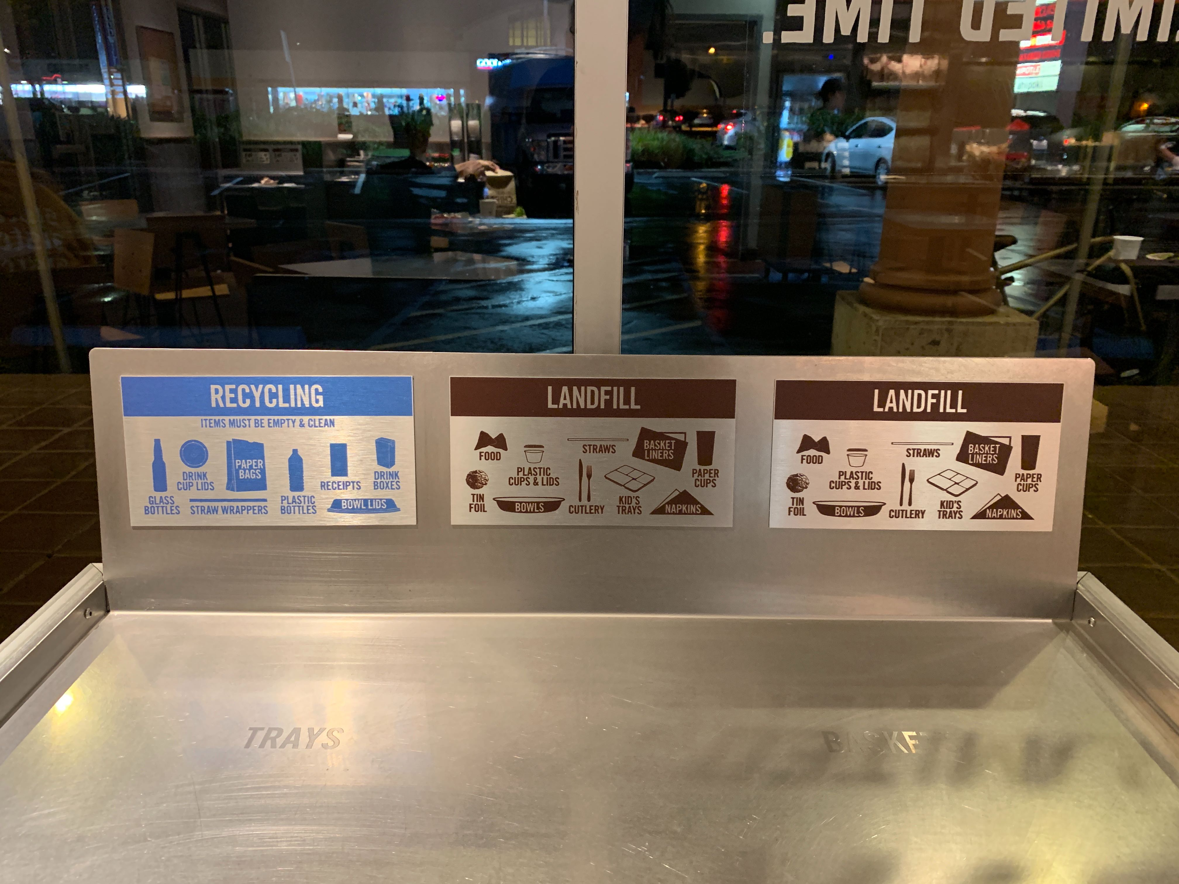 Chipotle Recycling Station