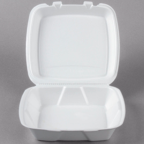styrofoam takeout container