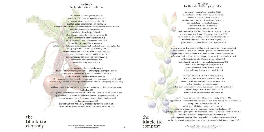 catering menu ideas