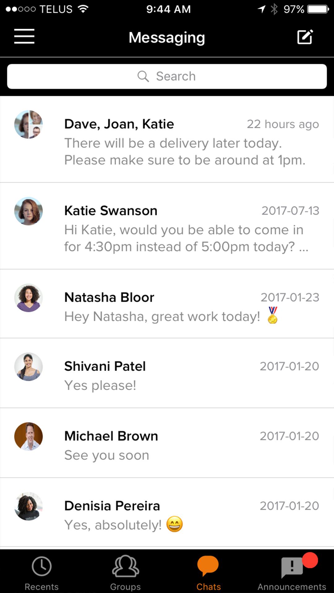 restaurant employee communication