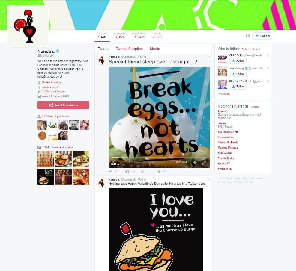 restaurant twitter ideas
